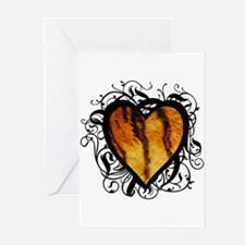 Tiger Heart Greeting Cards (Pk of 10)