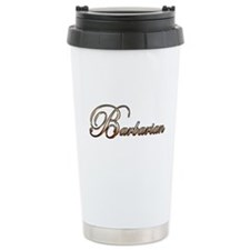 Gold Barbarian Travel Coffee Mug