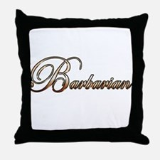 Gold Barbarian Throw Pillow