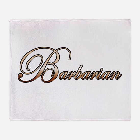 Gold Barbarian Throw Blanket