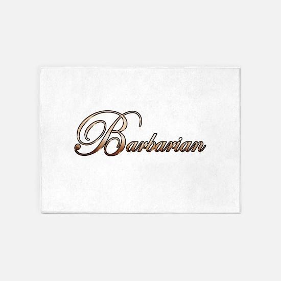 Gold Barbarian 5'x7'Area Rug
