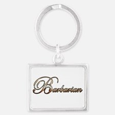 Gold Barbarian Keychains