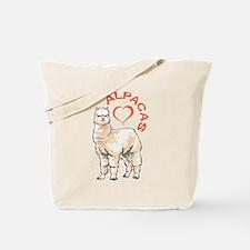LOVE ALPACAS Tote Bag