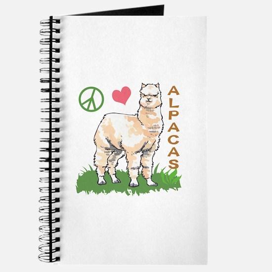 PEACE LOVE ALPACAS Journal