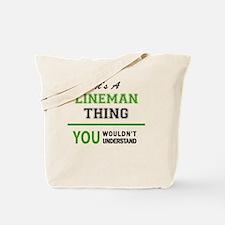 Cute Lineman Tote Bag