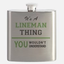 Unique Lineman Flask