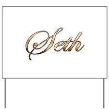 Gold Seth Yard Sign