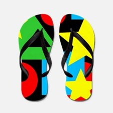 Abstract Color Shapes Flip Flops