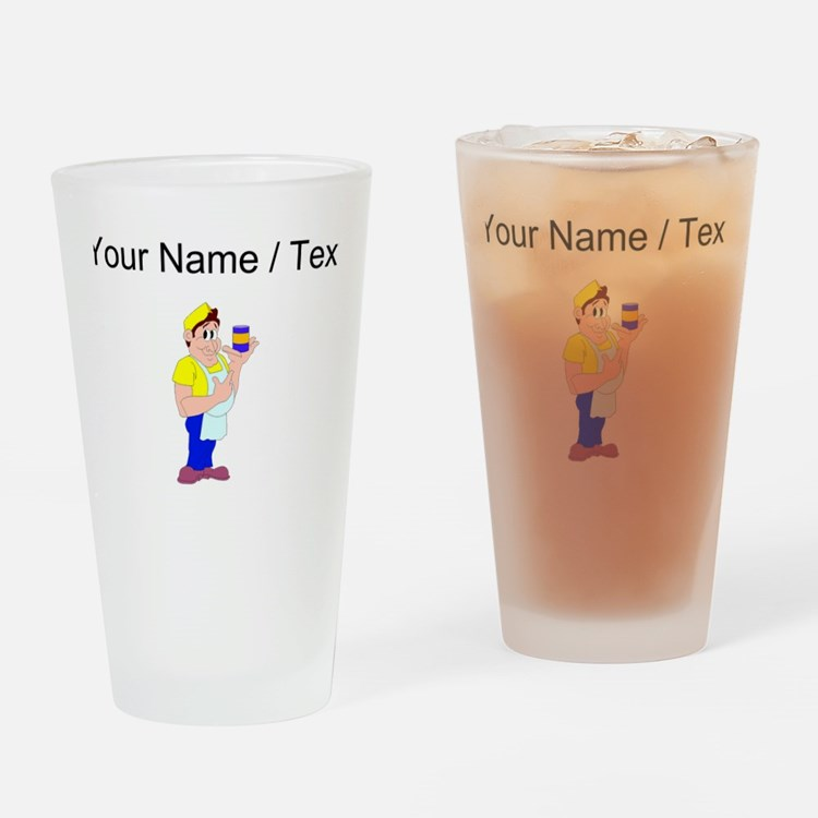 Custom Grocer Drinking Glass