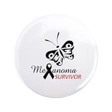 """MELANOMA SURVIVOR 3.5"""" Button"""