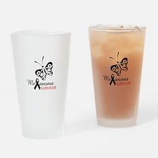 MELANOMA SURVIVOR Drinking Glass