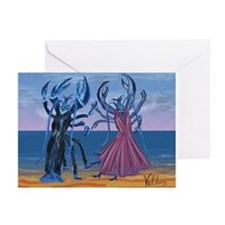 Lobster Quadrille Greeting Cards (Pk of 10)