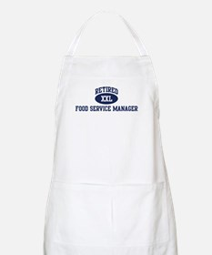 Retired Food Service Manager BBQ Apron