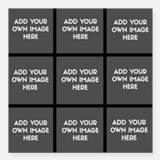 """Add Your Own Images Collage Square Car Magnet 3"""" x"""