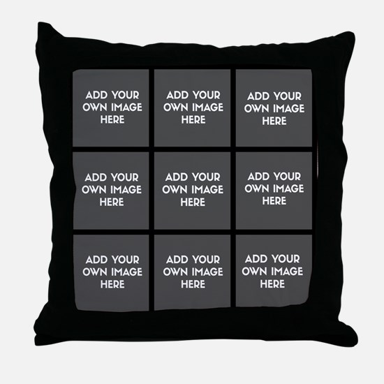 Add Your Own Images Collage Throw Pillow