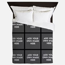 Add Your Own Images Collage Queen Duvet