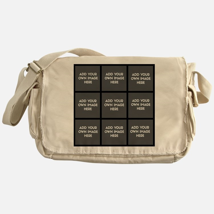 Add Your Own Images Collage Messenger Bag