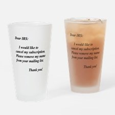 Cute Irs Drinking Glass