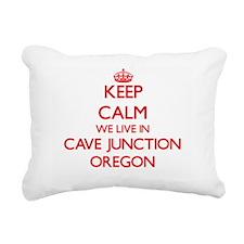 Keep calm we live in Cav Rectangular Canvas Pillow