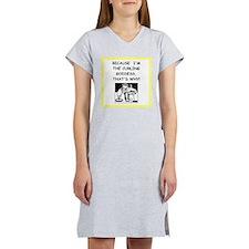 curling joke Women's Nightshirt