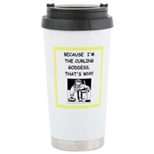 curling joke Travel Mug