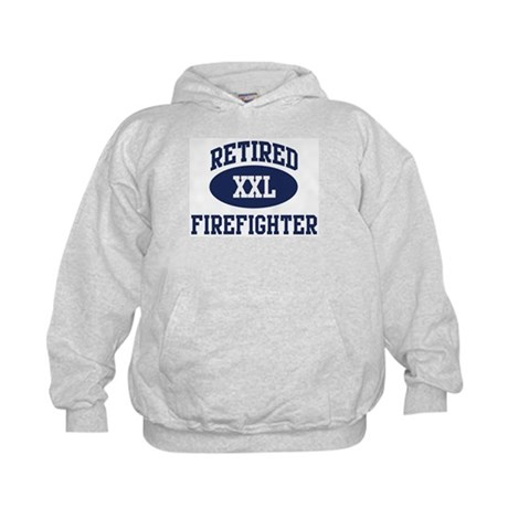 Retired Firefighter Kids Hoodie