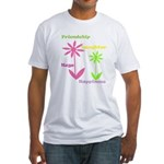 Friendship Flowers Fitted T-Shirt