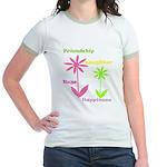 Friendship Flowers Jr. Ringer T-Shirt
