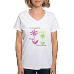 Friendship Flowers Women's V-Neck T-Shirt