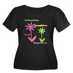 Friendship Flowers Women's Plus Size Scoop Neck Da