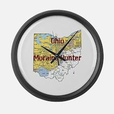 Ohio Moraine Hunter Large Wall Clock
