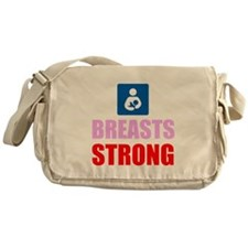 Breasts Strong Messenger Bag