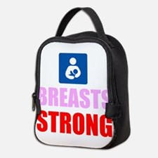 Breasts Strong Neoprene Lunch Bag