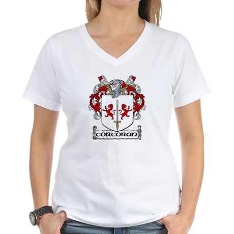 Corcoran Coat of Arms Women's V-Neck T-Shirt