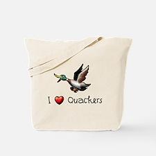 I-love-quackers.png Tote Bag