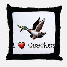 I-love-quackers.png Throw Pillow