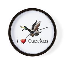I-love-quackers.png Wall Clock