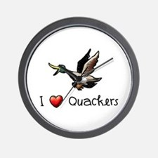 I-love-quackers.png Wall Clock