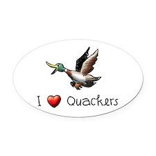 I-love-quackers.png Oval Car Magnet