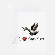 I-love-quackers.png Greeting Cards