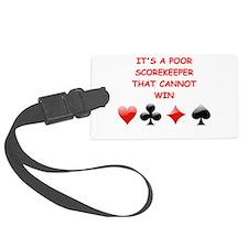 card player joke Luggage Tag