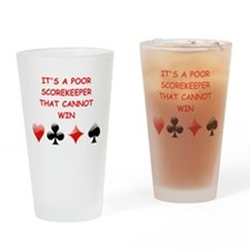 card player joke Drinking Glass