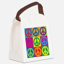 Pop Art Peace Canvas Lunch Bag