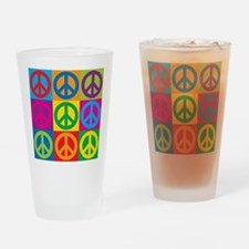 Pop Art Peace Drinking Glass