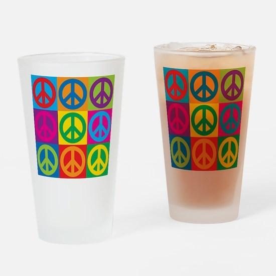 Pop Art Peace Drinking Glass
