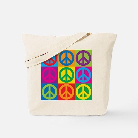 Pop Art Peace Tote Bag