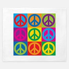 Pop Art Peace King Duvet