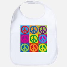 Pop Art Peace Bib