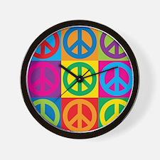 Pop Art Peace Wall Clock