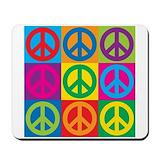 Peace symbol Mouse Pads